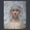 """Thumbnail image for """"The Bride """"  ODD NERDRUM   oil on canvas  42 x 33 cm  price 32.000  euro !"""
