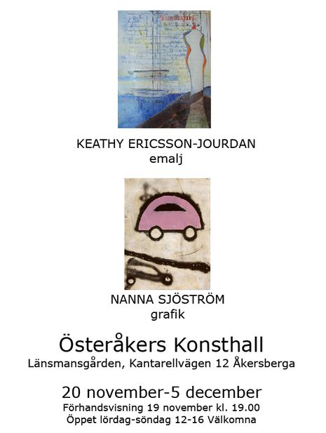 Post image for Österåkers Konsthall 20 november-5 december
