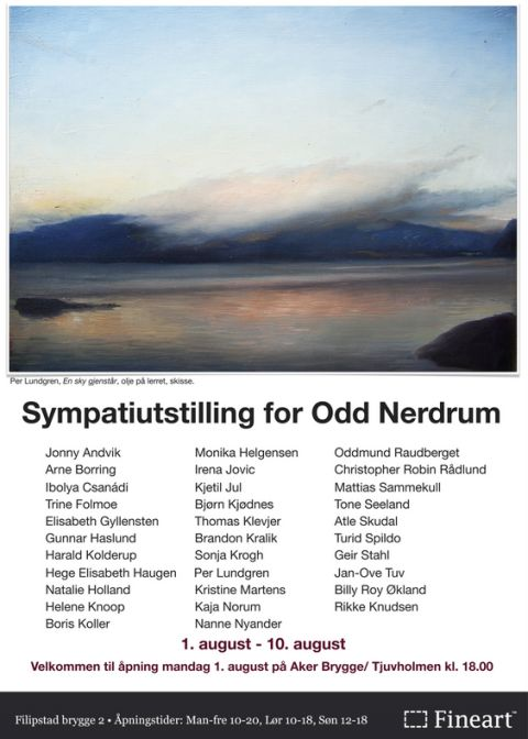 Post image for Sympatiutstilling for Odd Nerdrum – En hyllest til mesteren 1-10 augusti Oslo