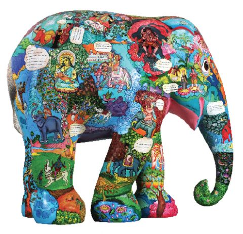 Post image for Elephant Parade Calais  France 2015 Twenty-one decorated life-size elephant