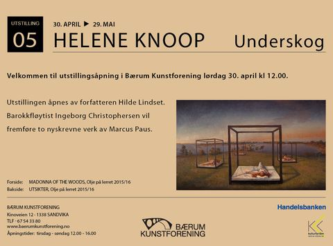 Post image for Bærum Kunstforening     Utstilling HELENE KNOOP 30 April  Kl 13.00