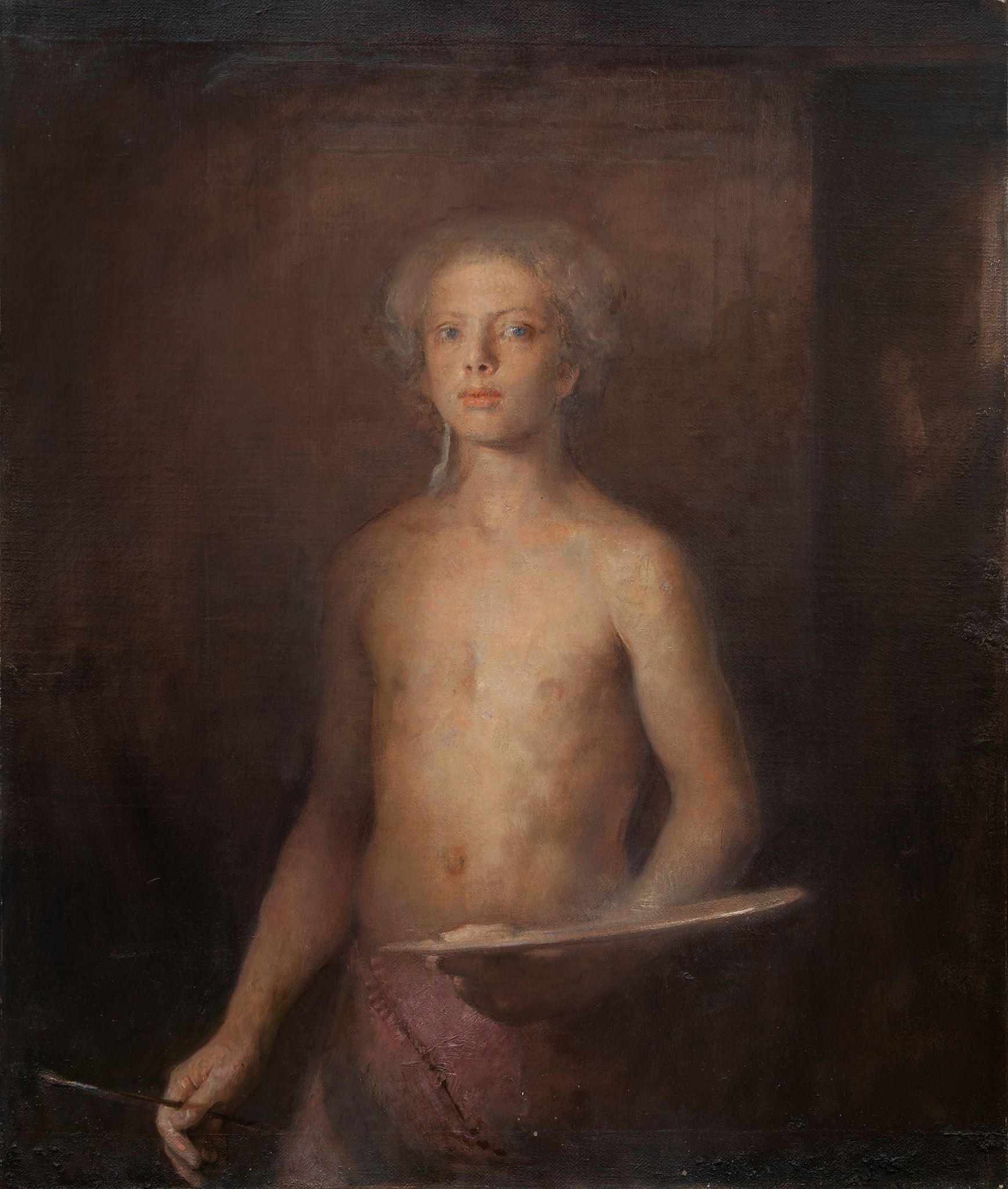 "Post image for Odd Nerdrum Norway , "" Bork in Paris "" oil on canvas 93 x 110 cm !"