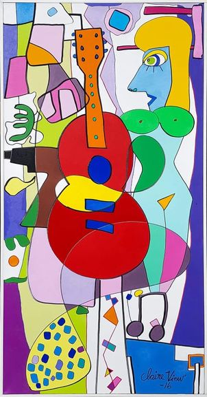 """Post image for Claire View """"The drill"""" oil on canvas 70 x 140 cm for sale at Artnet Scandinavia"""